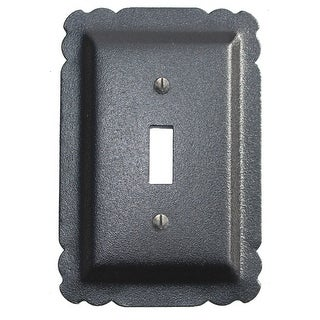 Switchplate Black Steel Single Toggle