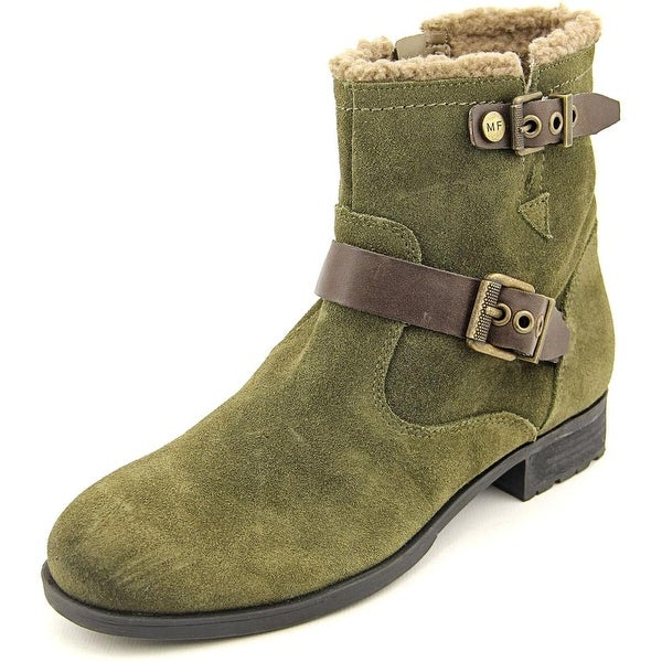 Marc Fisher Nattaly Round Toe Suede Ankle Boot