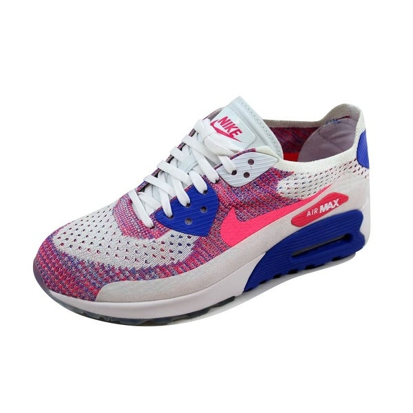 Nike Women's Air Max 90 Ultra 2.0 Flyknit White/Racer Blue-Medium Blue 881109-103