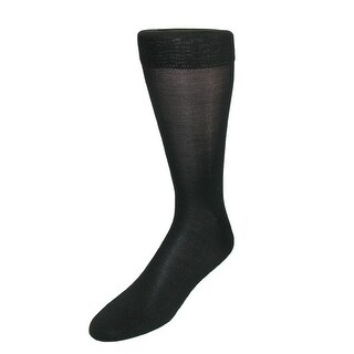 Windsor Collection Men's Silk Mid Calf Dress Socks (Pack of 6)