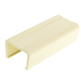 Offex 1.25 inch Surface Mount Cable Raceway, Ivory, Joint Cover