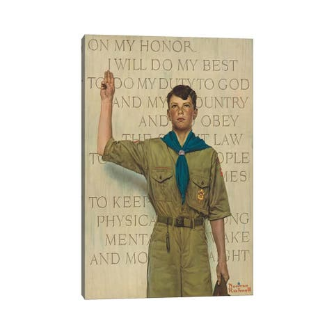 """iCanvas """"I Will Do My Best"""" by Norman Rockwell Canvas Print"""