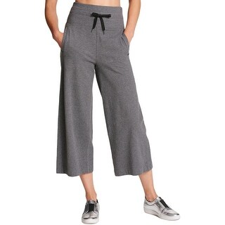 DKNY Womens Casual Pants Wide Leg Cropped
