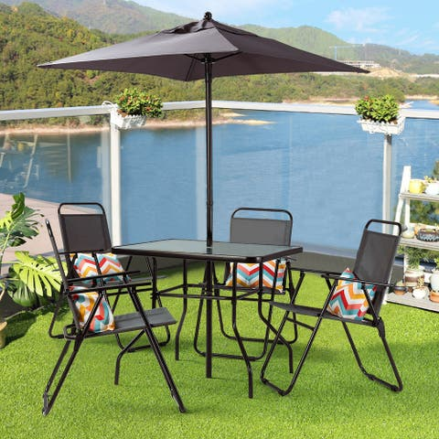 Jake 6 piece Bistro Dining Set with Umbrella