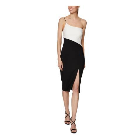 LAUNDRY Black Sleeveless Knee Length Dress 10