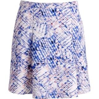 DKNYC Womens Scuba Pleated Flare Skirt