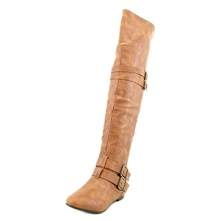 Nature Breeze Vickie Hi Women Round Toe Suede Over the Knee Boot