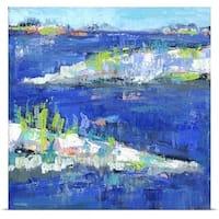 Pamela J. Wingard Poster Print entitled Blue Series Peaceful
