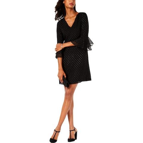 Jessica Howard Womens Petites Casual Dress Embellished Chiffon