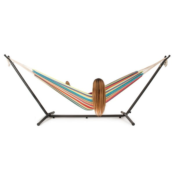 Shop Belleze 10ft Double Hammock Stand with Carrying Case ...