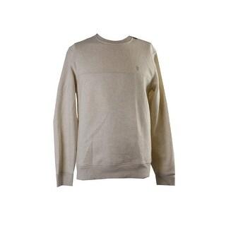 Izod Oatmeal Heather Fleece Crew-Neck Shirt S