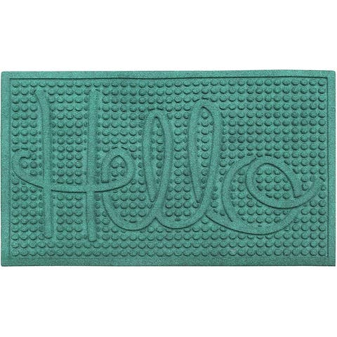 A1HC Water retainer Indoor/Outdoor Doormat, 2' x 3', Skid Resistant, Easy to Clean, Catches Water and Debris