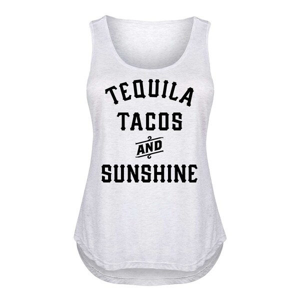 3cb2d04eb41da Shop Tequila Tacos And Sunshine - Ladies Plus Size Tank - Free Shipping On  Orders Over  45 - Overstock - 20464148