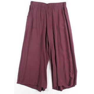 Lily White NEW Purple Size Large L Junior Capris Cropped Pull-On Pants