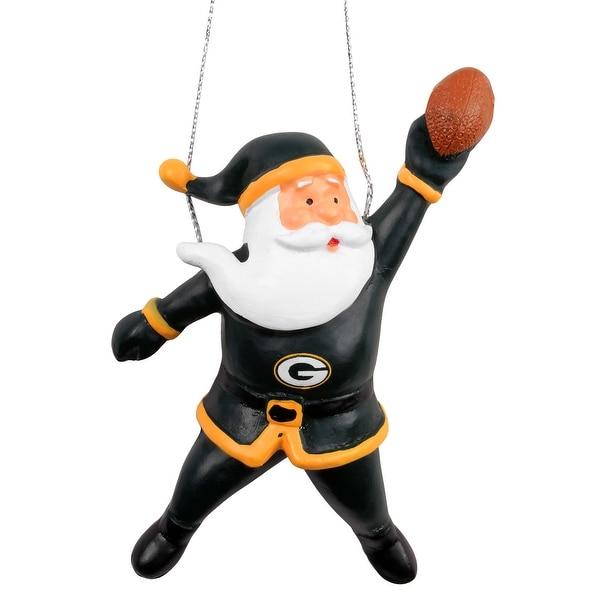 Green Bay Packers Action Santa Ornament