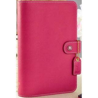 """Color Crush Faux Leather Personal Planner Binder 5.25""""X8""""-Fuchsia"""