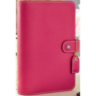 "Color Crush Faux Leather Personal Planner Binder 5.25""X8""-Fuchsia"