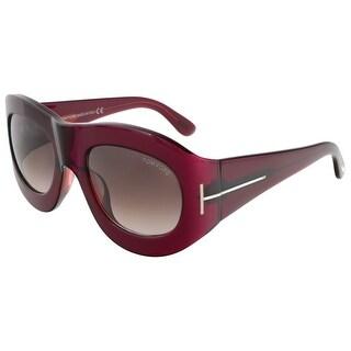 Tom Ford FT0403/S 77Z Mila Fuchsia Oval Sunglasses
