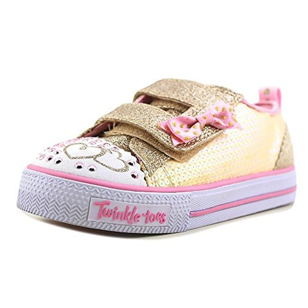 Shop Skechers Twinkle Toes Shuffles Itsy Bitsy Girls Light Up Sneakers  Gold Pink - Free Shipping Today - Overstock - 25609976 ae0194f85051