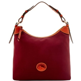 Dooney & Bourke Nylon Large Erica (Introduced by Dooney & Bourke at $149 in Sep 2016) - Maroon