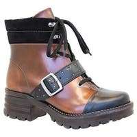 Dromedaris Women's Kori Ankle Boot Copper Leather