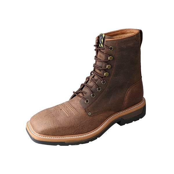 Twisted X Western Boots Mens Lite Steel Toe Lacer Saddle