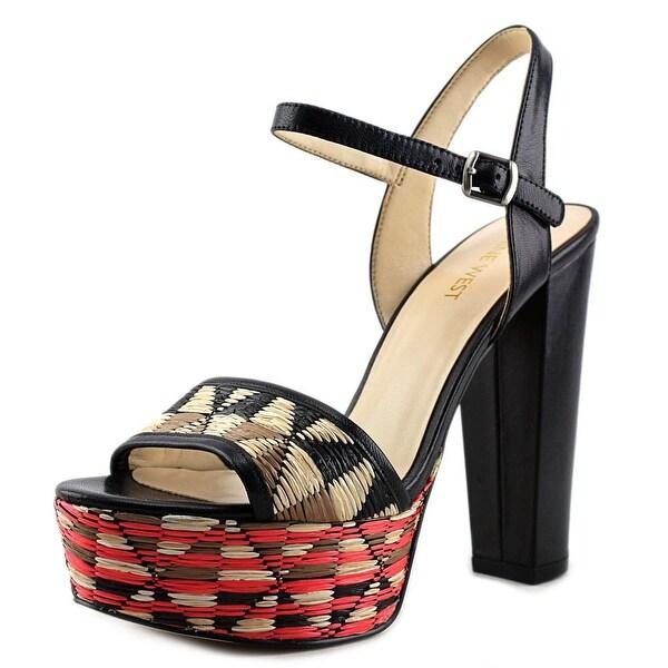 5343a6651 Shop Nine West Carnation Open Toe Leather Platform Sandal - Free ...