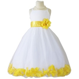 Flower Girl Dresses Rose Petal Wallao White (Baby - 14) Yellow Sunbeam