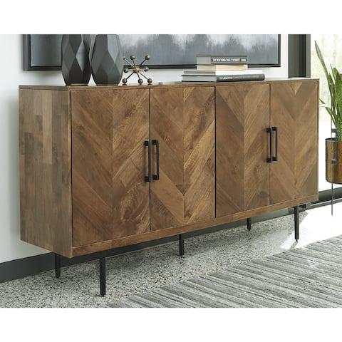 "Prattville Brown Accent Cabinet - 68""W x 16""D x 36""H"