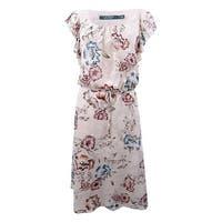 Lauren Ralph Lauren Women's Floral-Print Jacquard Dress (8, Pink Multi) - Pink Multi - 8