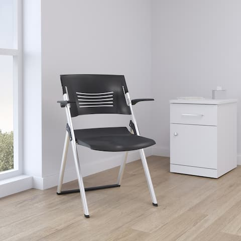 Wren Folding Guest Chair with Breathable Back