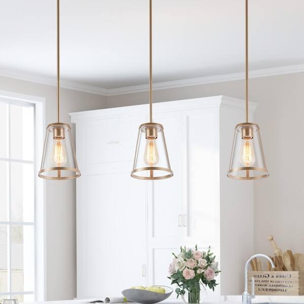 Modern Gold 1 Light Glass Island Pendant Lights D7 Xh8 On Sale Overstock 33198564