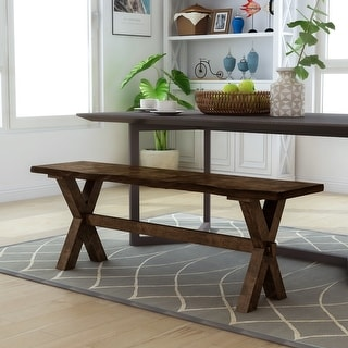 Link to Carbon Loft Maddock Rustic 54-inch Live Edge Dining Bench Similar Items in Kitchen & Dining Room Chairs