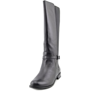 Giani Bernini Zayla Women Round Toe Leather Black Knee High Boot