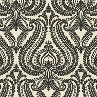 Brewster 2535-20625 Imperial Black Modern Damask Wallpaper