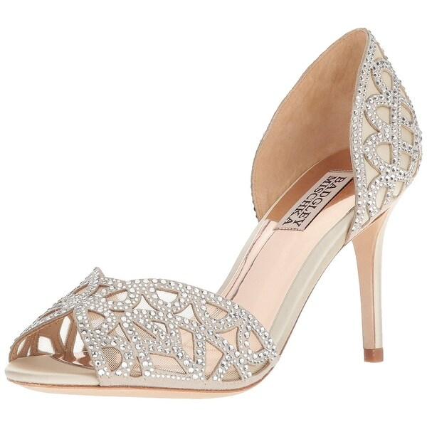BADGLEY MISCHKA Womens Harris Peep Toe Special Occasion Espadrille Sandals