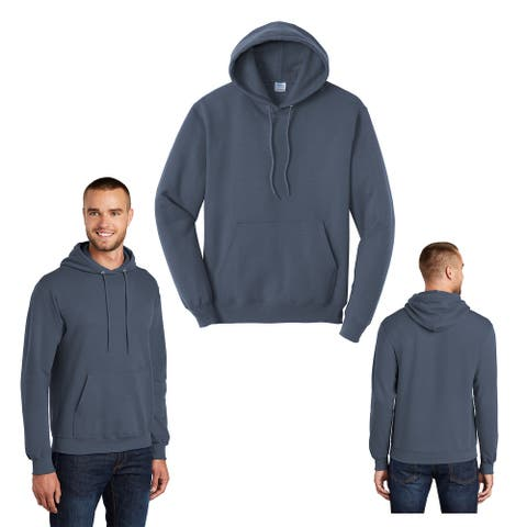One Country United Men's Steel Blue LARGE Hooded Sweatshirt