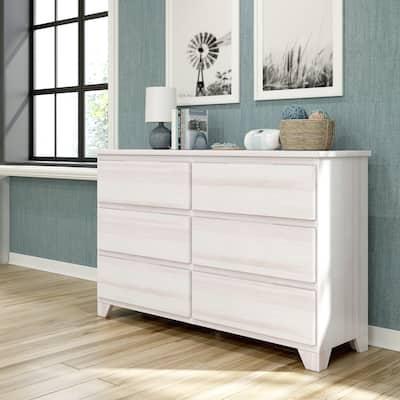 Max & Lily Farmhouse 6 Drawer Dresser