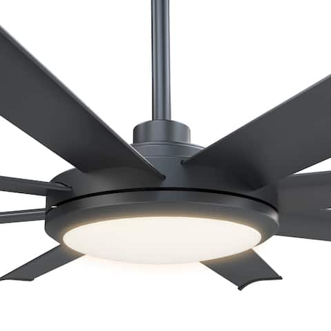 Matte Black 60-in 8-Blade Ceiling Fan with Remote Control