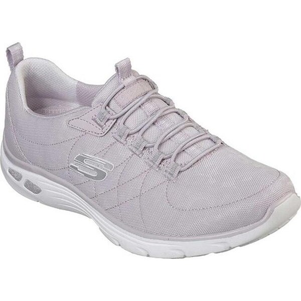 Skechers Women's Relaxed Fit Empire D'Lux Spotted Sneaker Lavender