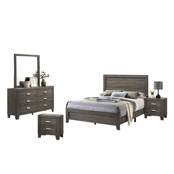 Best Quality Furniture Anastasia 4-Piece Bedroom Set Extra Nightstand. Opens flyout.
