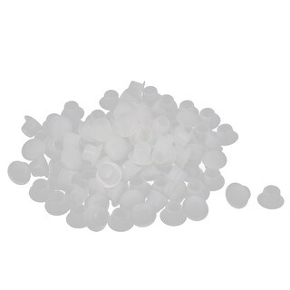 8mm Diameter Hole Plastic Round Shaped Furniture Screw Cap Covers White 100 Pcs