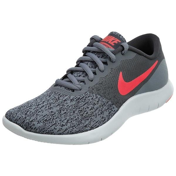 eaf56aa93 Shop Women s Nike Flex Contact Running Shoe Cool Grey  Solar Red ...
