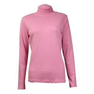 Karen Scott Women's Solid Knit Cotton Mock Top|https://ak1.ostkcdn.com/images/products/is/images/direct/84689a527ae191c6070cae107f3849ed266c1f56/Karen-Scott-Women%27s-Solid-Knit-Cotton-Mock-Top.jpg?impolicy=medium