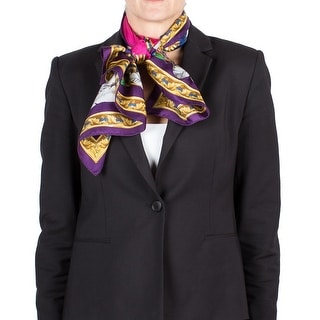 Versace Women's Native American Feather Pattern Silk Scarf