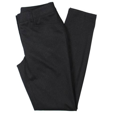 Anne Klein Womens Dress Pants Melange Skinny - Zinc/Anne Black