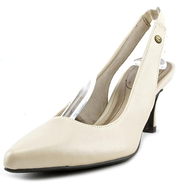 Life Stride Shena Women Pointed Toe Synthetic Nude Slingback Heel