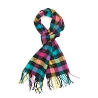 "Super Soft Luxurious Classic Cashmere Feel Winter Scarf - Multicolor -  72""x12"" with 19"" fringes"