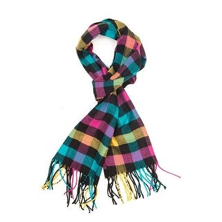 """Super Soft Luxurious Classic Cashmere Feel Winter Scarf - Multicolor - 72""""x12"""" with 19"""" fringes"""