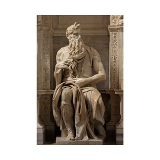 Easy Art Prints Michelangelo's 'Moses' Premium Canvas Art
